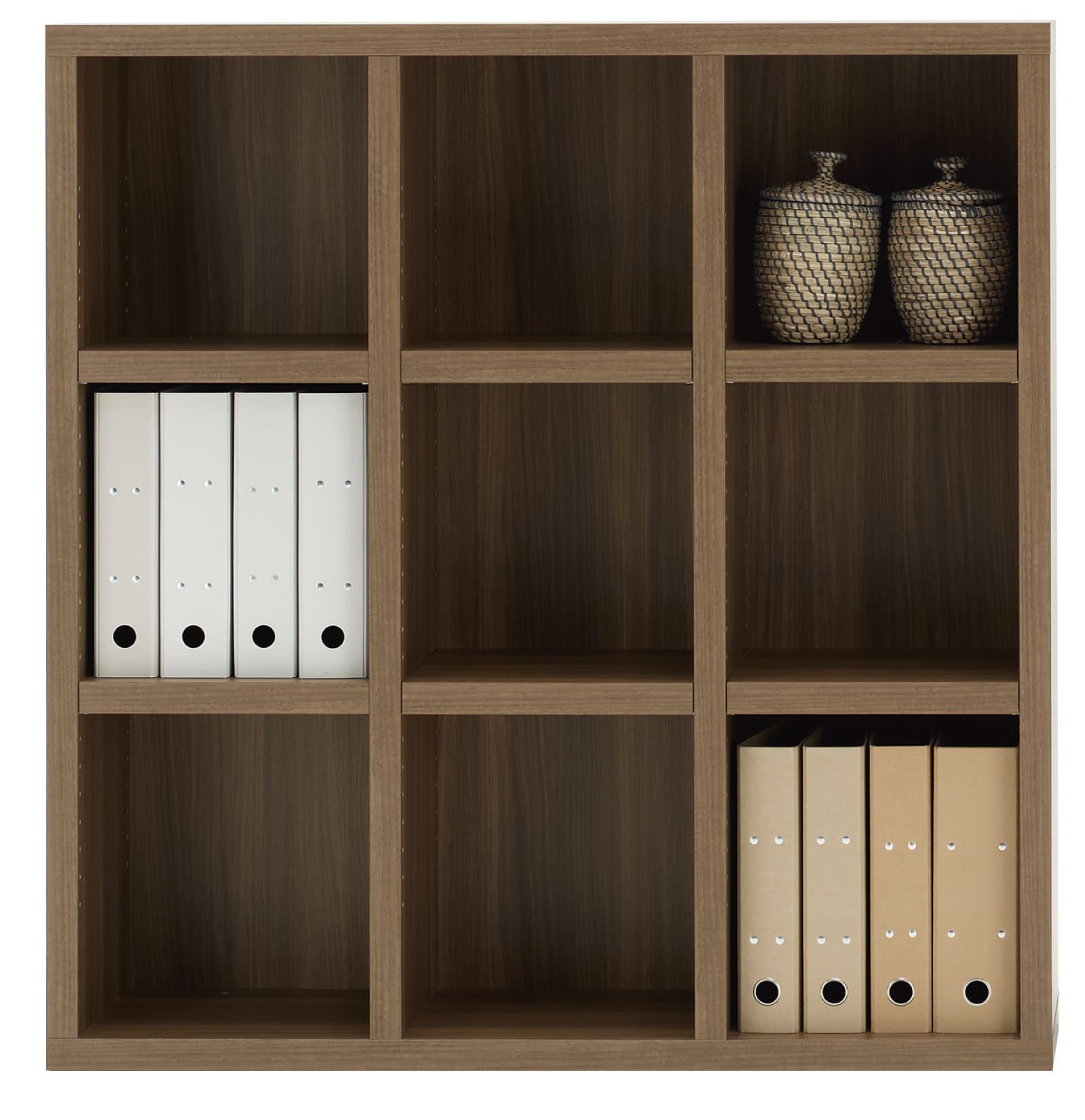 書棚 ニューラチスFHD−110L リアルウォールナット:書棚 ニューラチス ※小物類はイメージです。