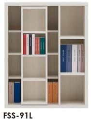 スライド書棚  ニューラチスFSS−91L ホワイトウッド
