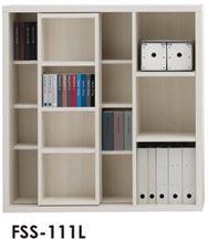 スライド書棚  ニューラチスFSS−111L ホワイトウッド