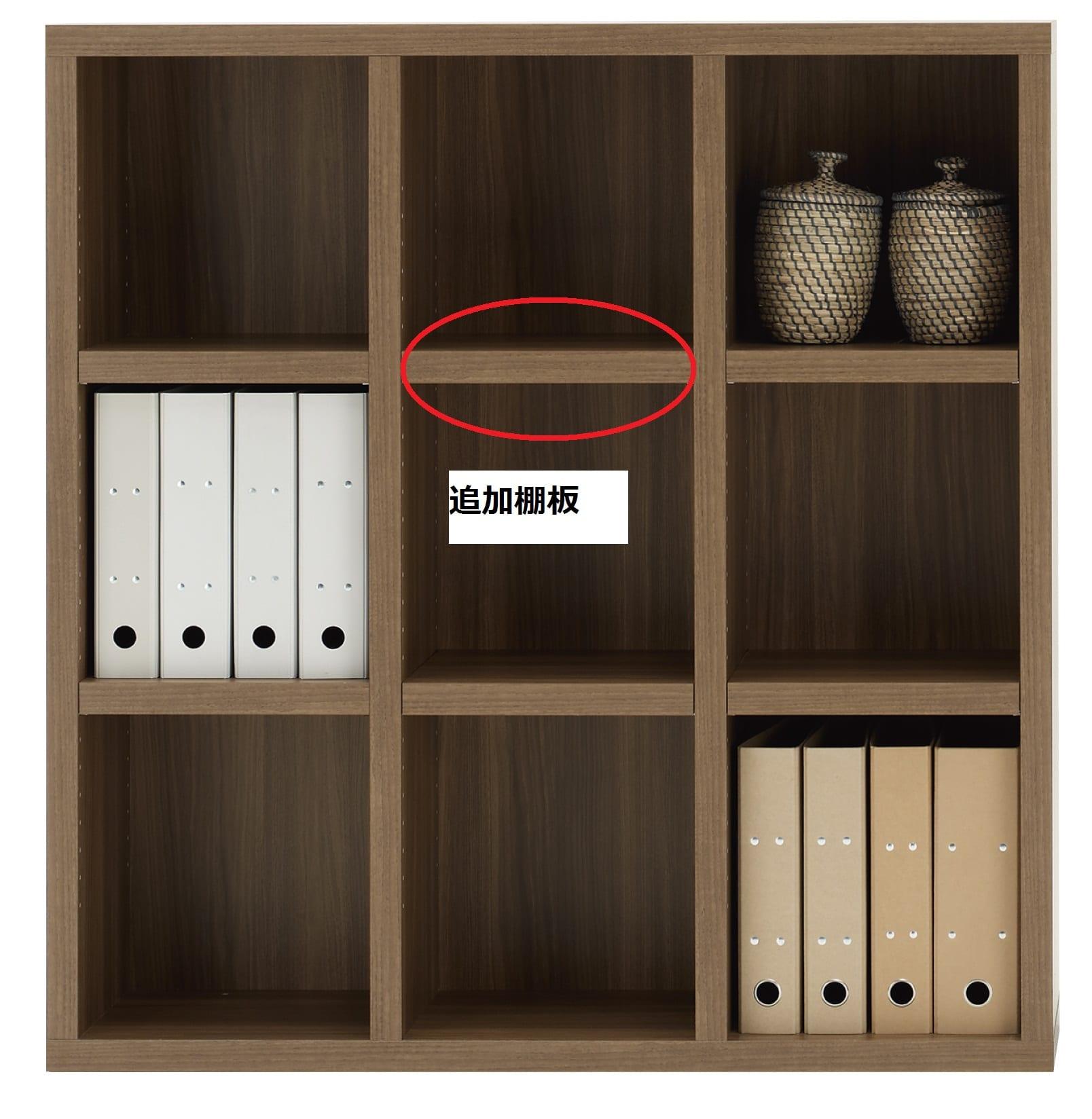 棚板 ニューラチスFH−110L リアルウォールナット:棚板 ニューラチス ※小物類はイメージです。