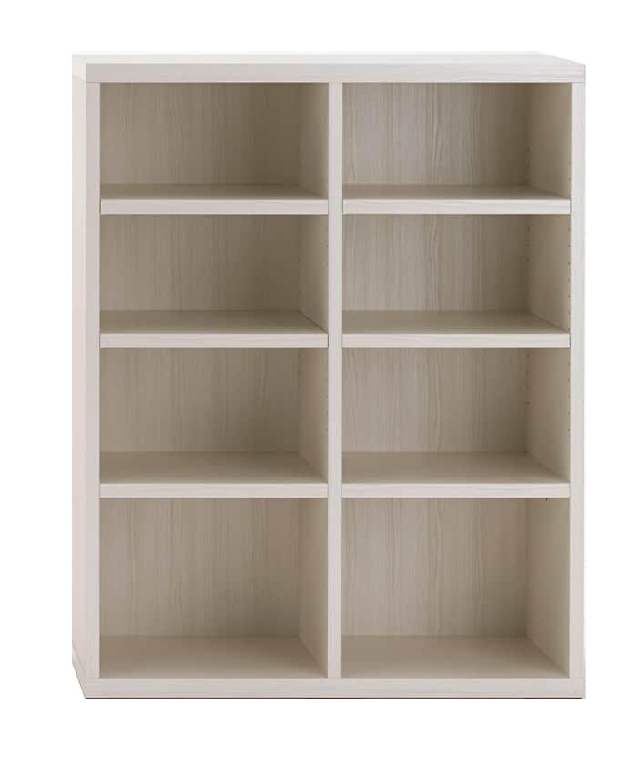 壁面収納 LFS−90オープンタイプ(WH)ホワイト:壁面収納 LFS−90オープンタイプ(WH)ホワイト