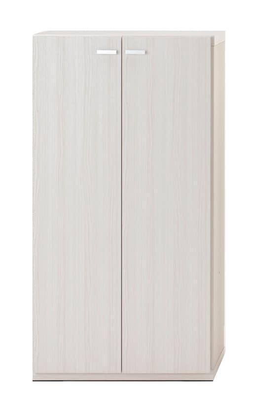 壁面収納 KFS−60扉タイプ(WH)ホワイト:壁面収納 KFS−60扉タイプ(WH)ホワイト