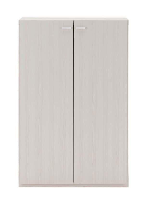 壁面収納 KFS−74扉タイプ(WH)ホワイト:壁面収納 KFS−74扉タイプ(WH)ホワイト