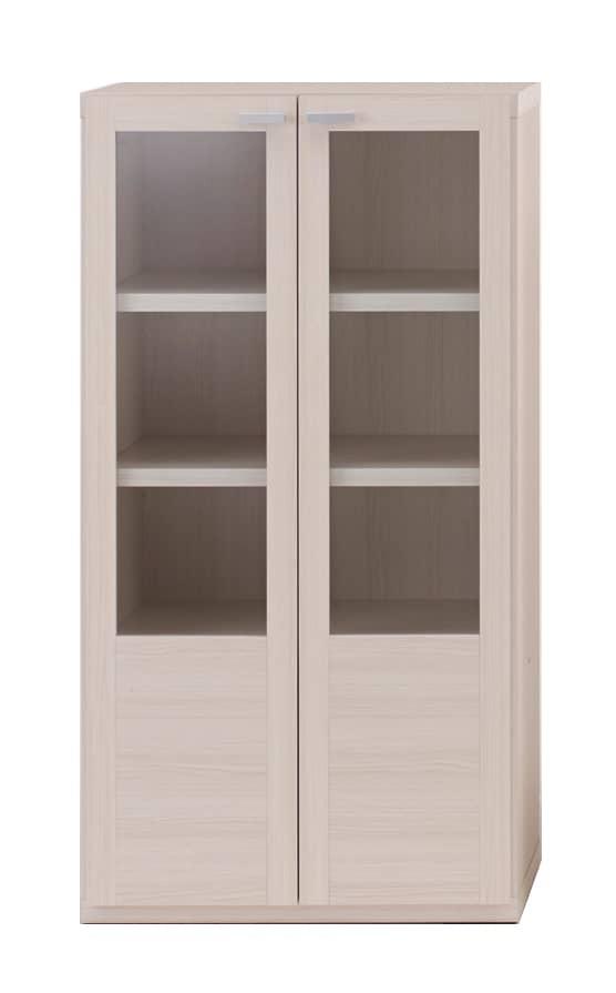 壁面収納 GFS−60 ガラス戸タイプ (WH)ホワイト:壁面収納 GFS−60 ガラス戸タイプ (WH)ホワイト
