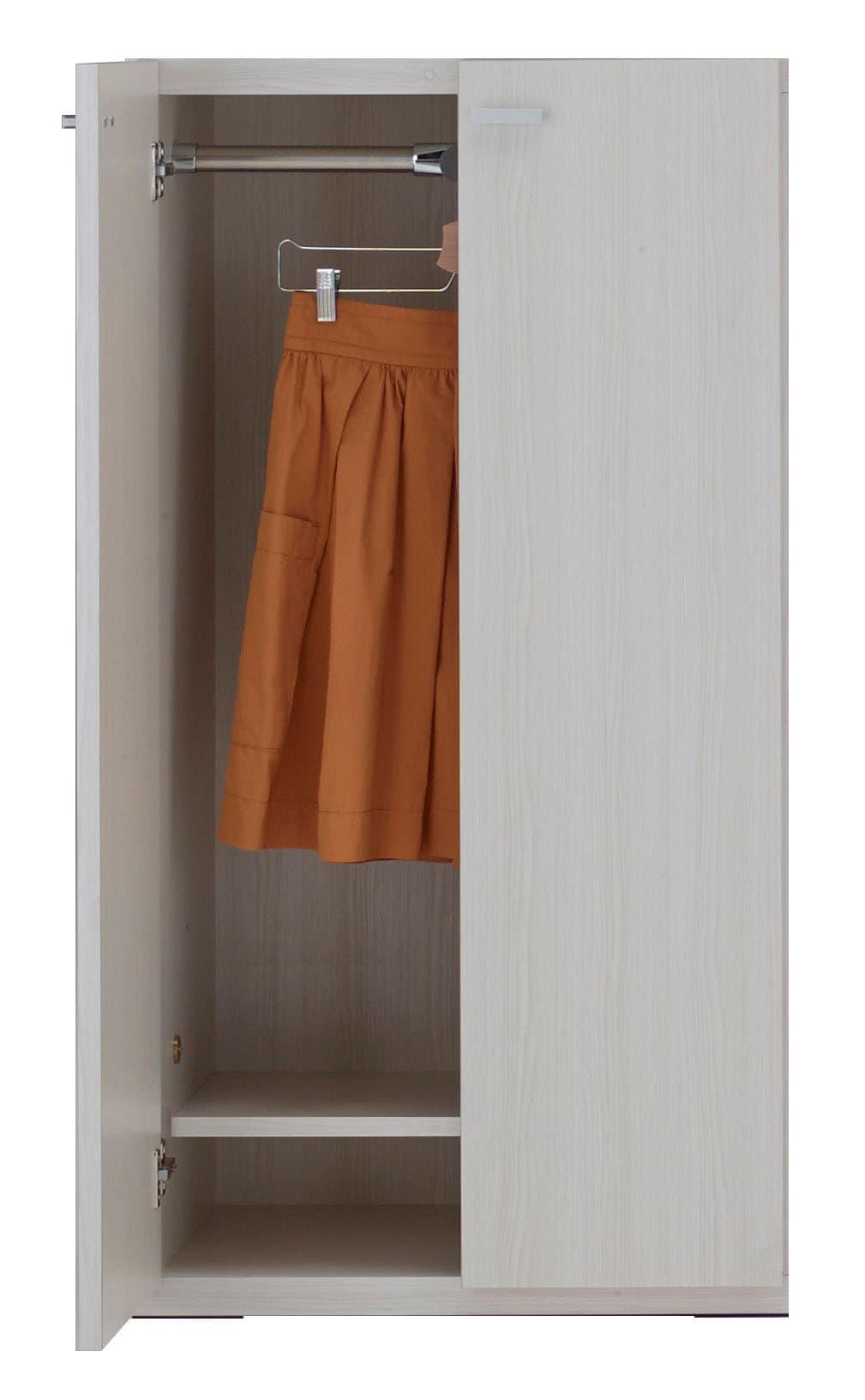 壁面収納 KCS−60洋服扉タイプ(WH)ホワイト:壁面収納 KCS−60洋服扉タイプ(WH)ホワイト