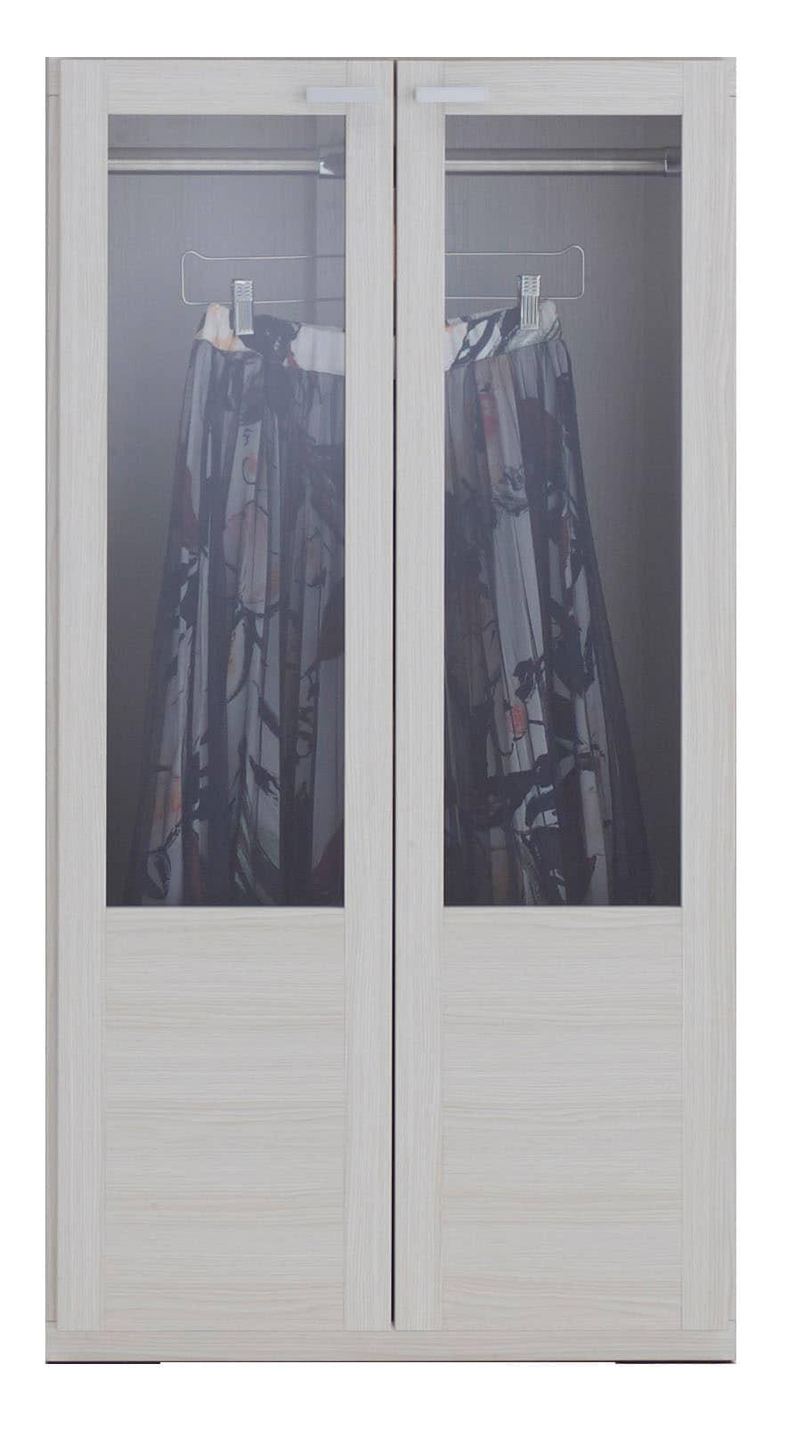 壁面収納 GCS−60洋服ガラス戸タイプ(WH)ホワイト:壁面収納 GCS−60洋服ガラス戸タイプ(WH)ホワイト