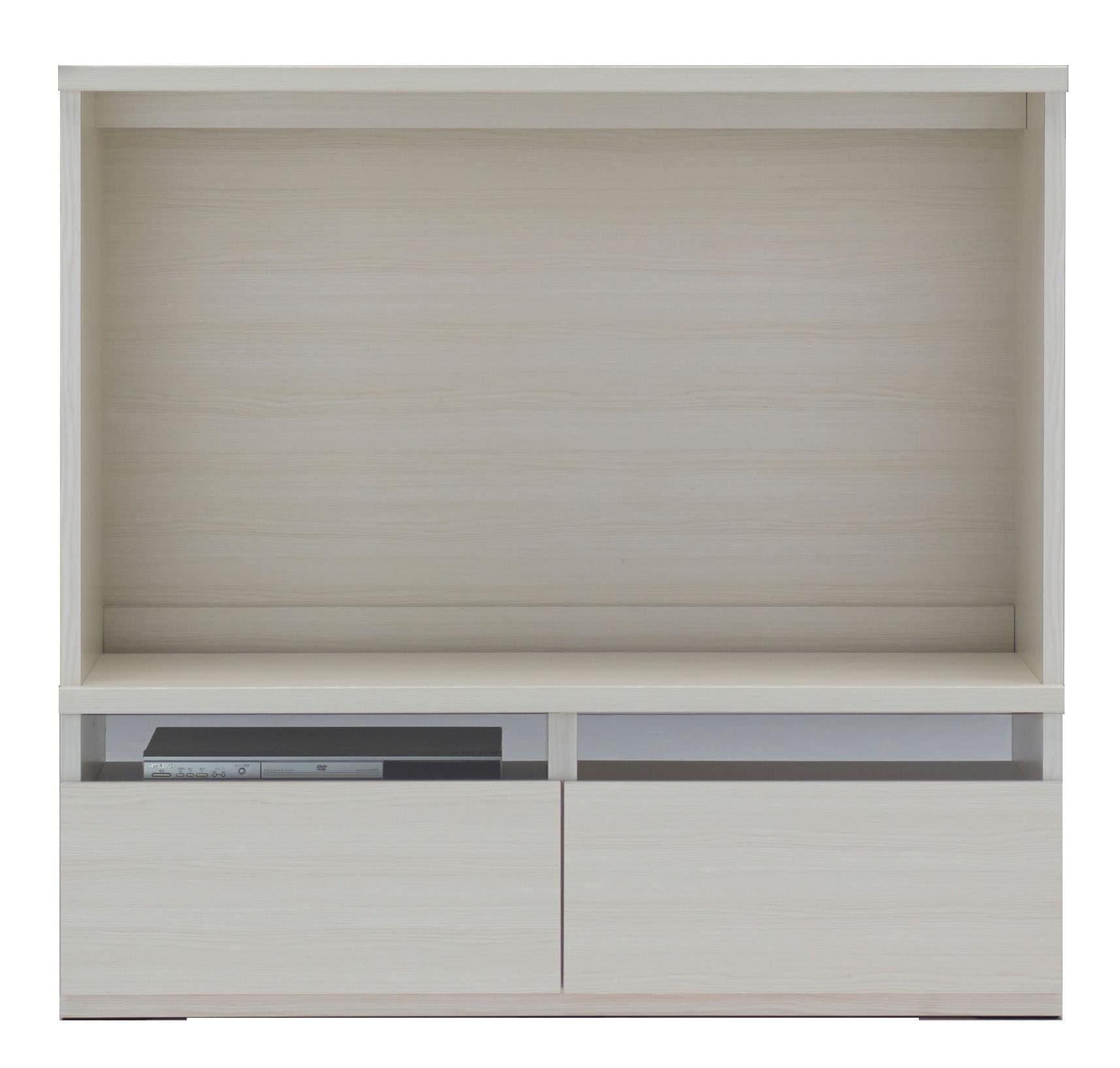 壁面収納 LTS−120テレビボード(WH)ホワイト:壁面収納 LTS−120テレビボード(WH)ホワイト