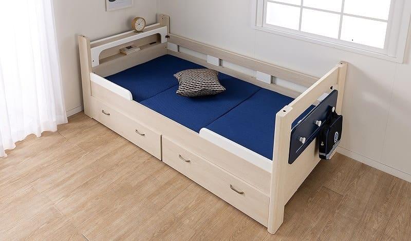 カラーメッシュマットレス(ブラック):二段ベッドにおススメ