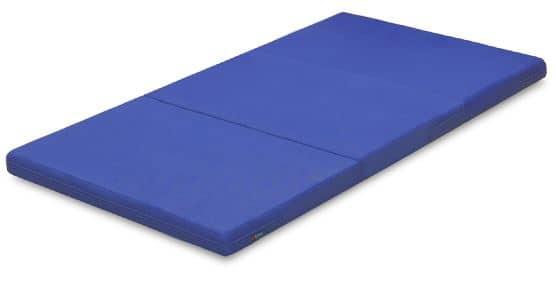 薄型マットレス カラーメッシュ 3つ折りタイプ BLブルー:◆厚さ8センチなので、2段ベッドやシステムベッドに最適です。