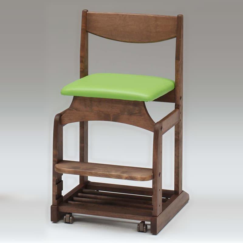 【堀田木工】木製チェア フォレスタ �bT GR/WN(ウォールナット):シンプルスタイルの落ち着いたデザイン
