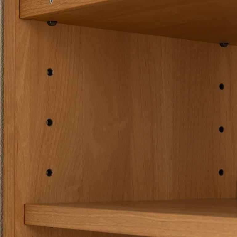 ラック フォレスタ 3310ワイドラック NA(ナチュラル):高さ調節可能な棚板