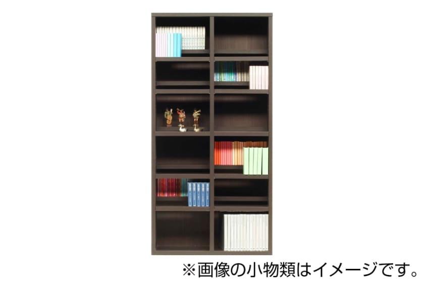 書棚 スカーラ 90Hフリーボード (ダークブラウン)