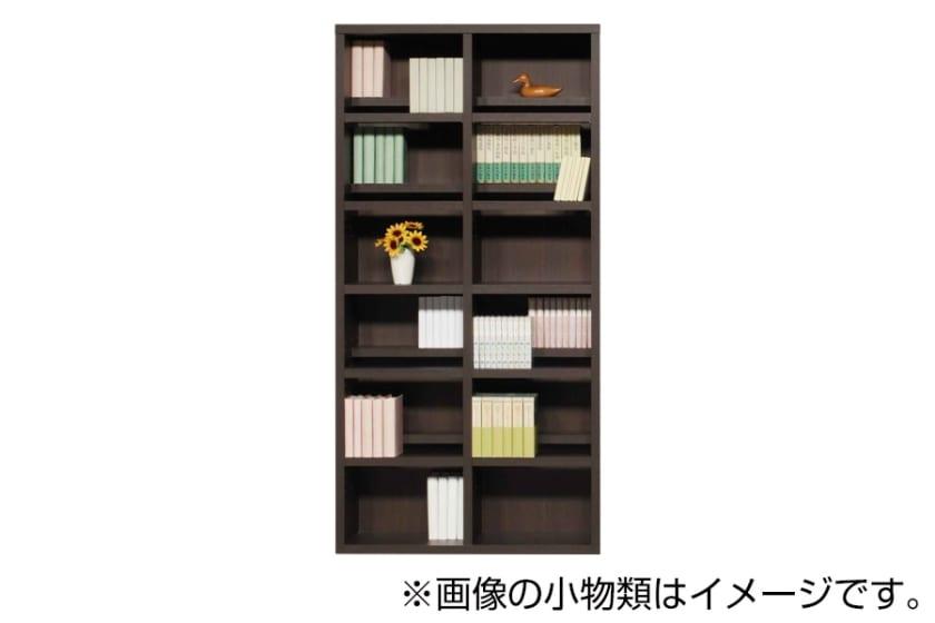 書棚 スカーラ 90Hフリーボード(ダークブラウン)
