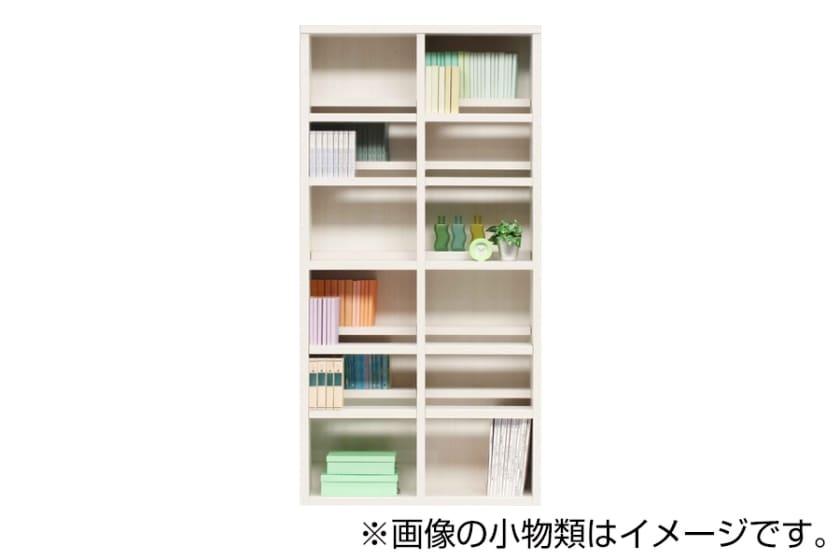 書棚 スカーラ 90Hフリーボード (ホワイト):様々なインテリアにフィットするシンプルカジュアルスタイル