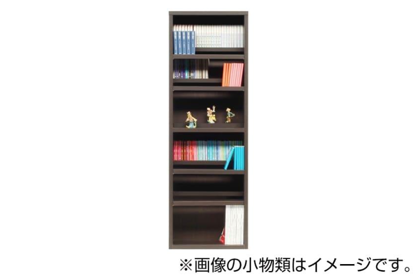 書棚 スカーラ 60Hフリーボード (ダークブラウン):様々なインテリアにフィットするシンプルカジュアルスタイル
