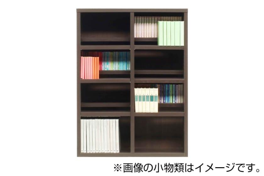 書棚 スカーラ 90Lフリーボード (ダークブラウン)
