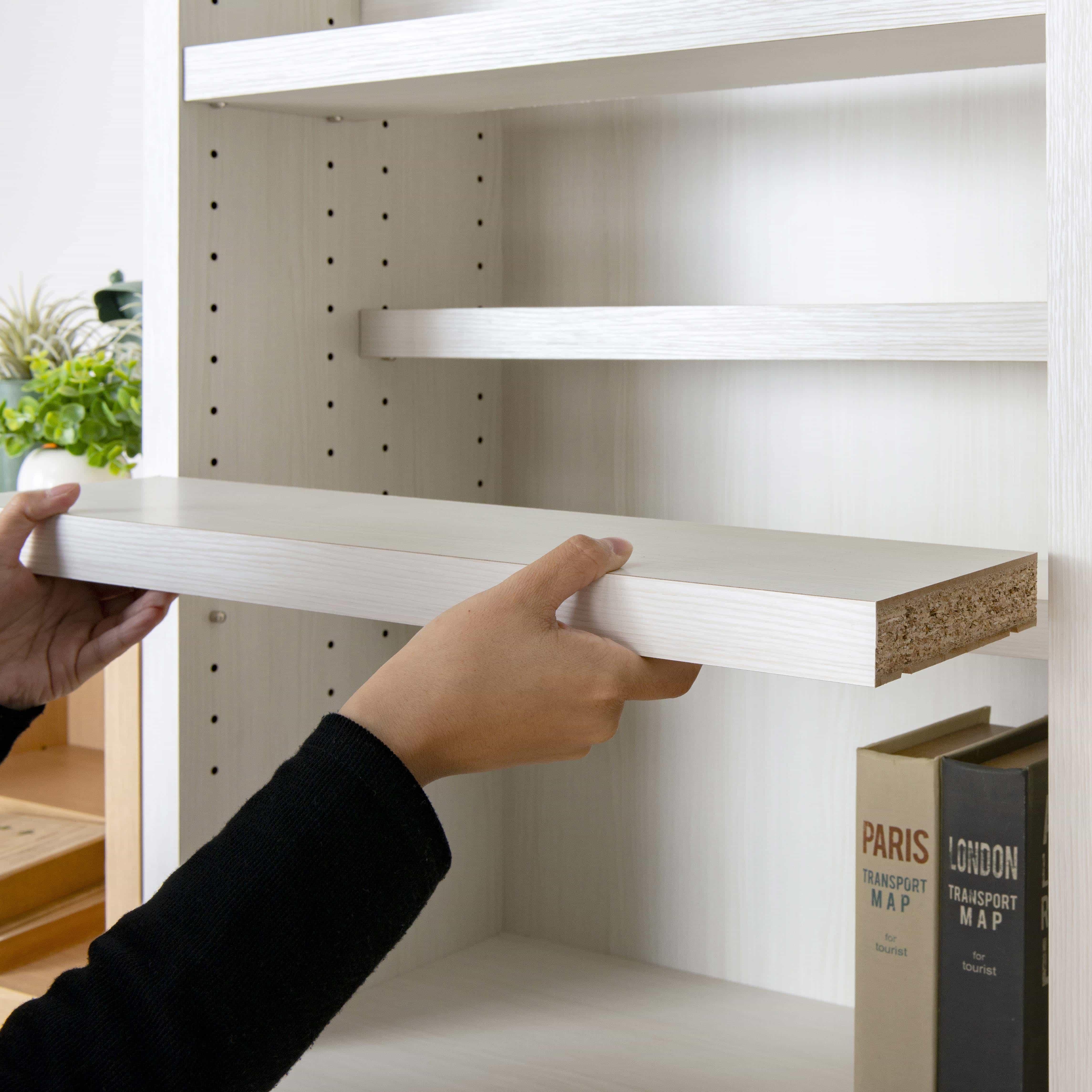書棚 スカーラ 90Lフリーボード (ダークブラウン):追加で棚板の注文も可能