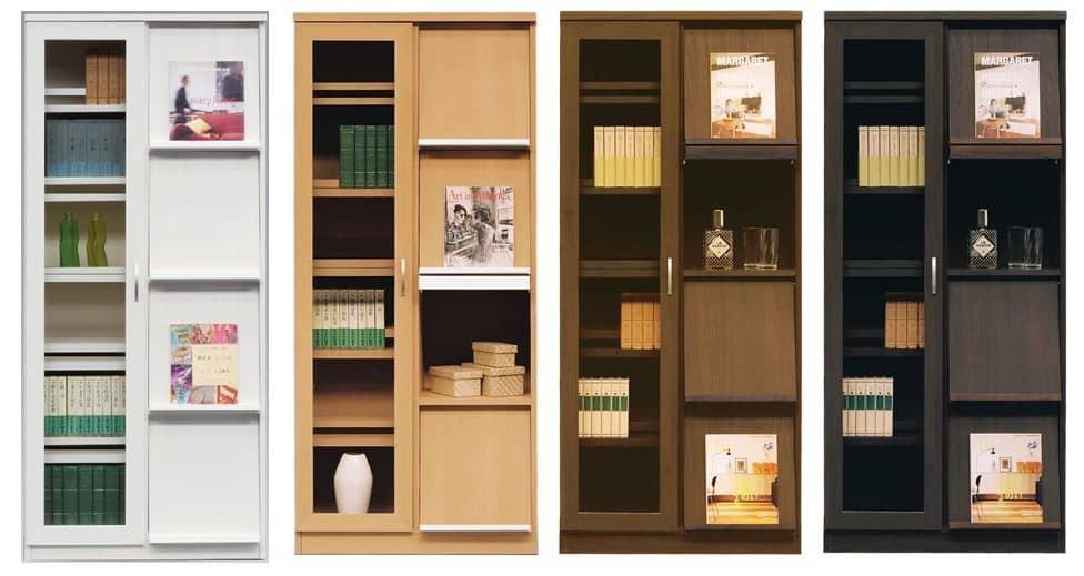 書棚 スカーラ 90Lフリーボード (ダークブラウン):様々なインテリアに対応