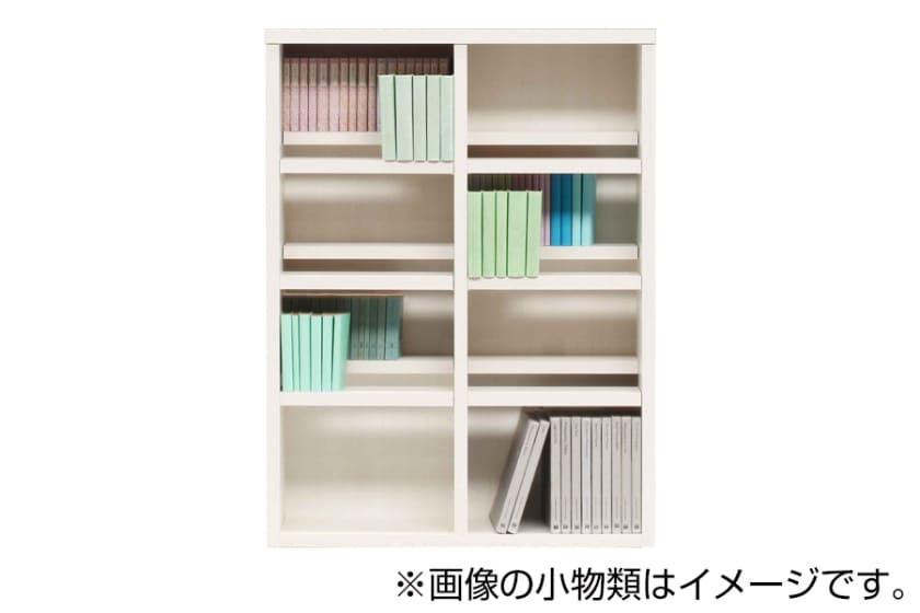 書棚 スカーラ 90Lフリーボード (ホワイト):様々なインテリアにフィットするシンプルカジュアルスタイル