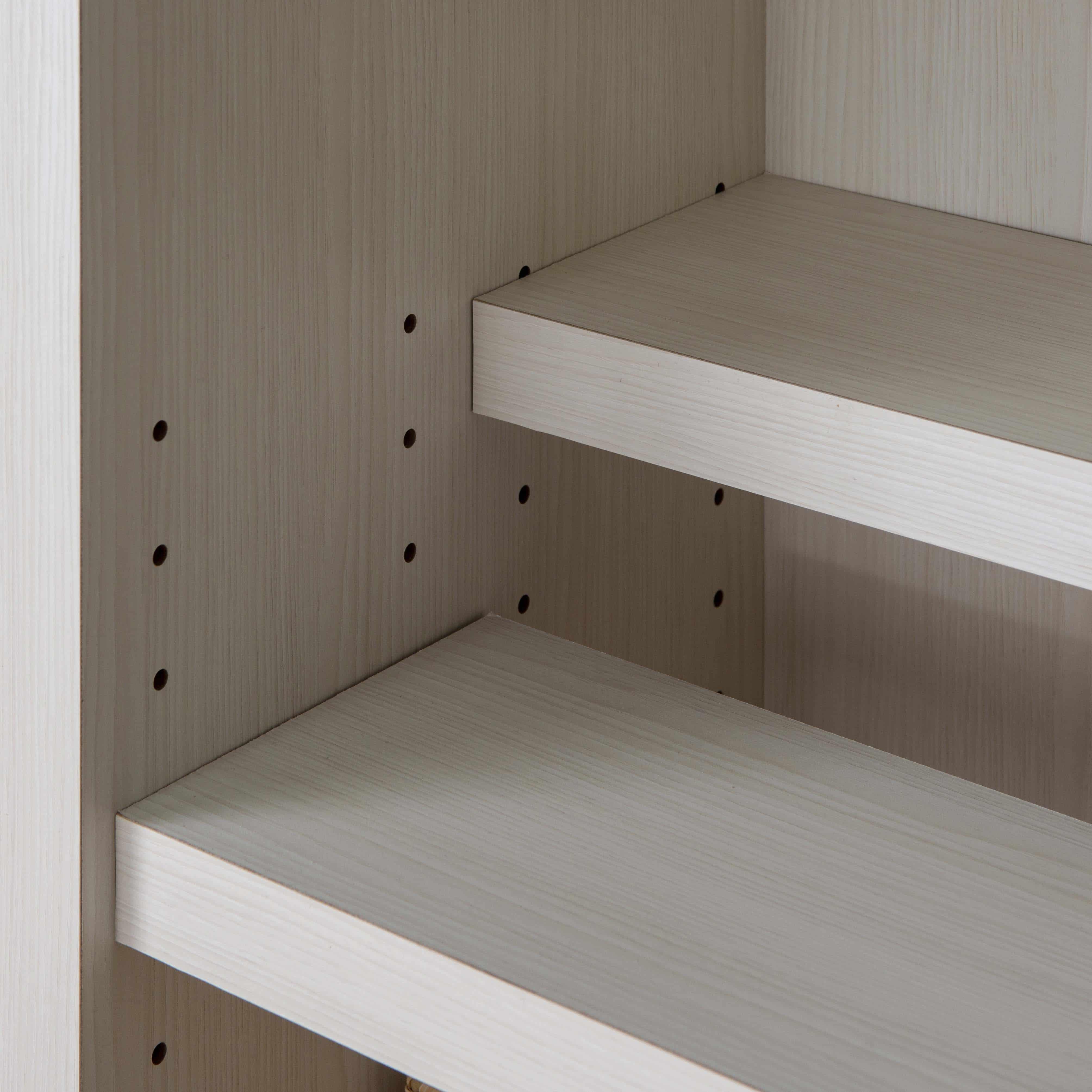 書棚 スカーラ 90Lフリーボード (ホワイト):細かな調整で無駄なく収納