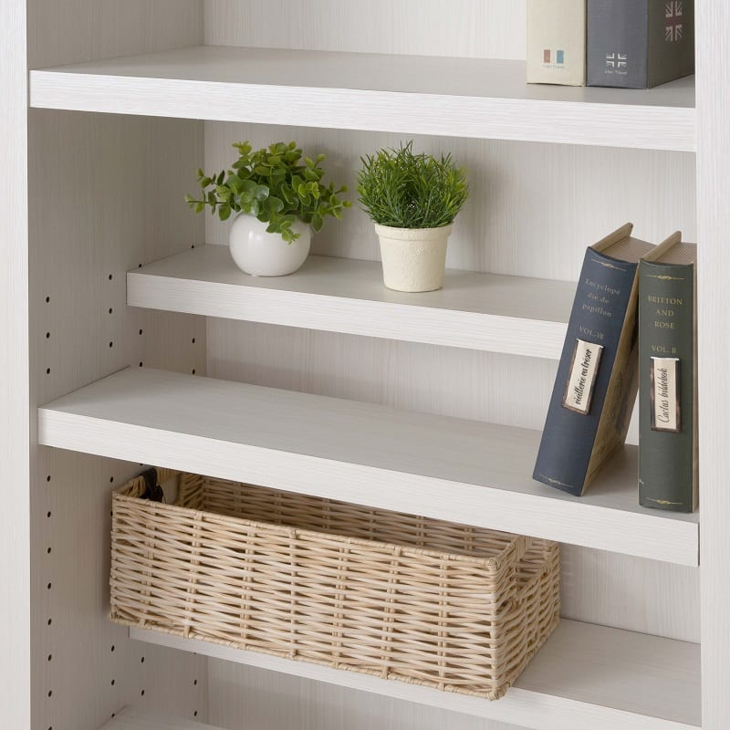 書棚 スカーラ 90Lフリーボード (ホワイト):国内生産のこだわり