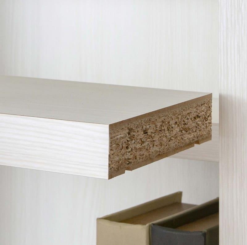 書棚 スカーラ 90Lフリーボード (ホワイト):プリント化粧合板