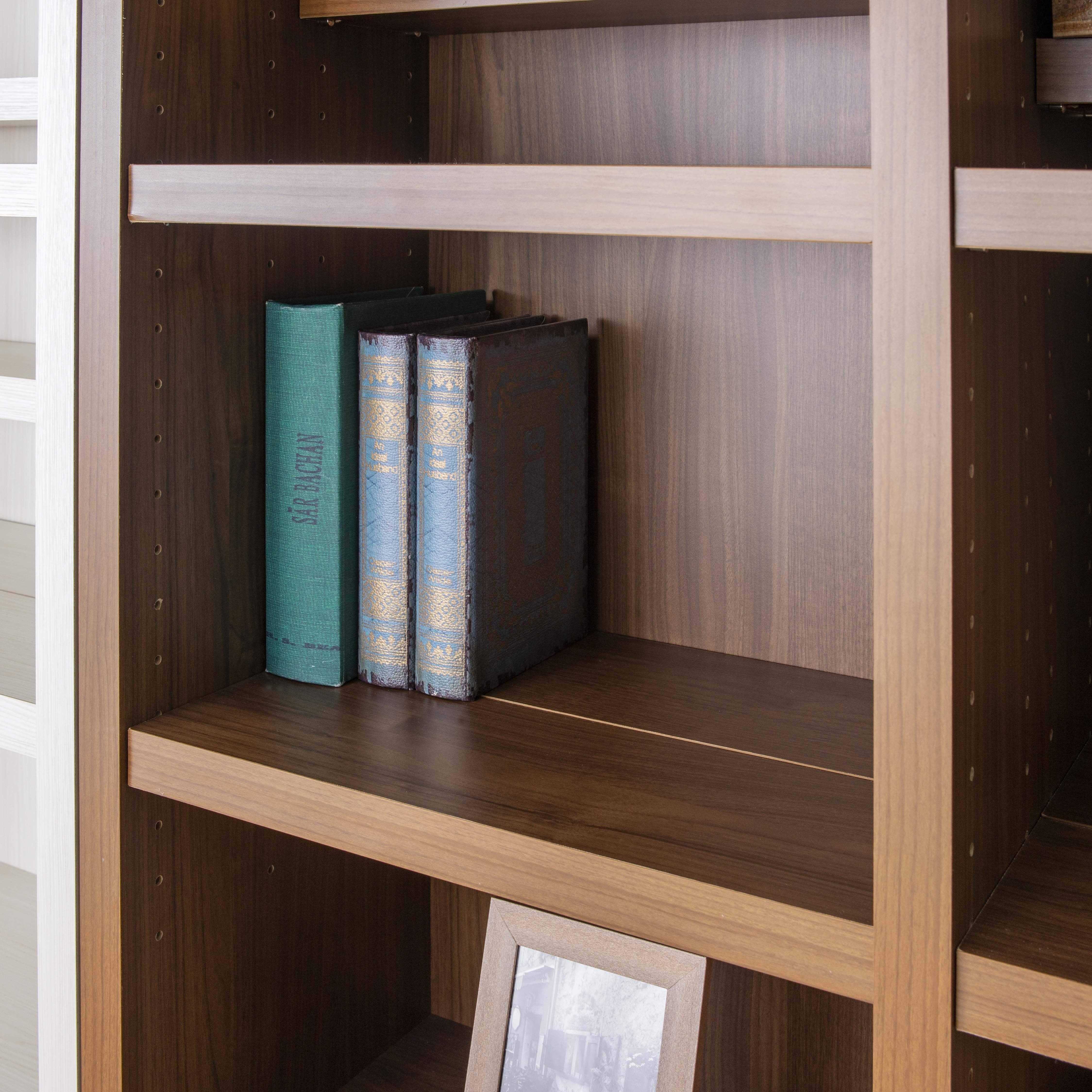 書棚 スカーラ 40Hフリーボード (ダークブラウン):大きな本にも対応