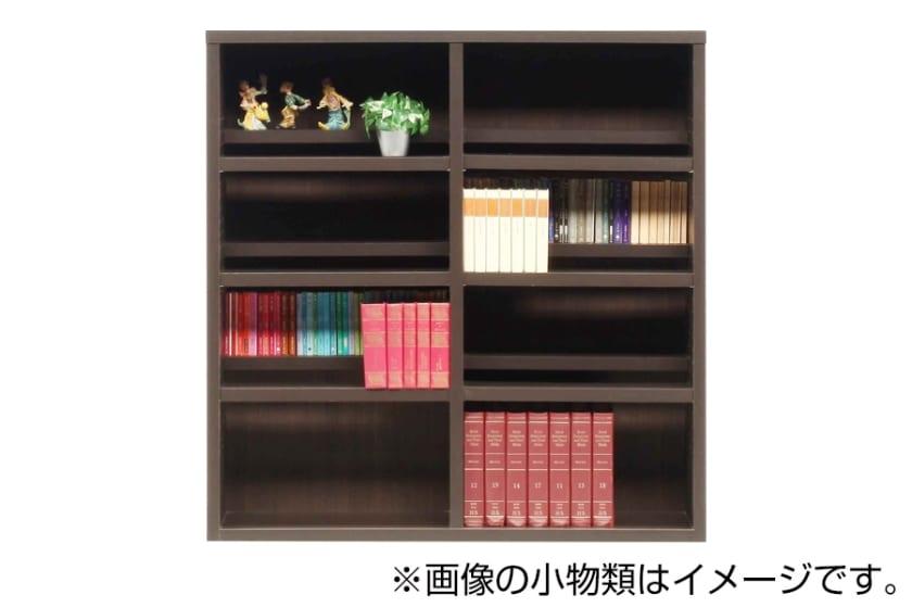 書棚 スカーラ 120Lフリーボード(ダークブラウン)