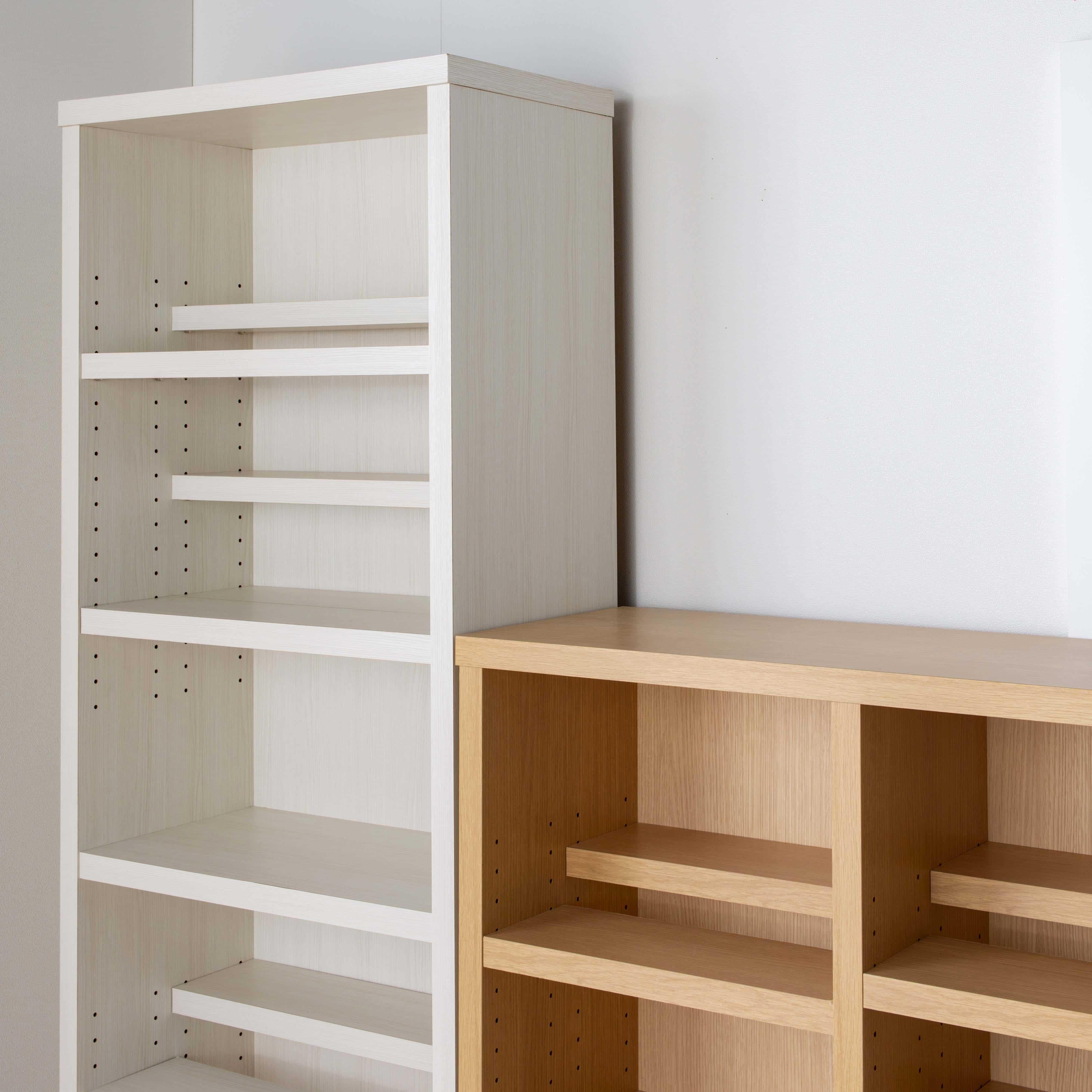 書棚 スカーラ 90Hフリーボード (ウォールナット):ロータイプはサイドボードとしても使用可能