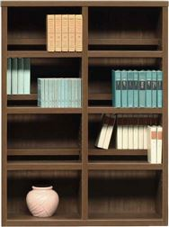 書棚 スカーラ 90Lフリーボード (ウォールナット)