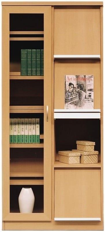 書棚 スカーラ 80Hフラップ (ナチュラル)