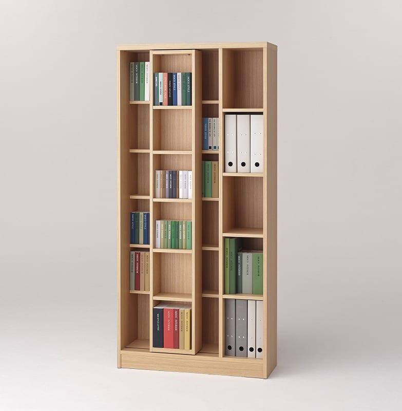 スライド書棚 エース シングルスライド NA:収納力バツグン!スライド書棚 小物類はイメージです。
