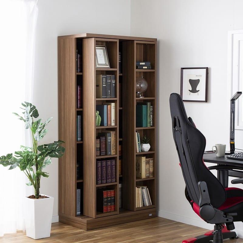 スライド書棚  エース シングルスライド 白木目:安心品質の日本製