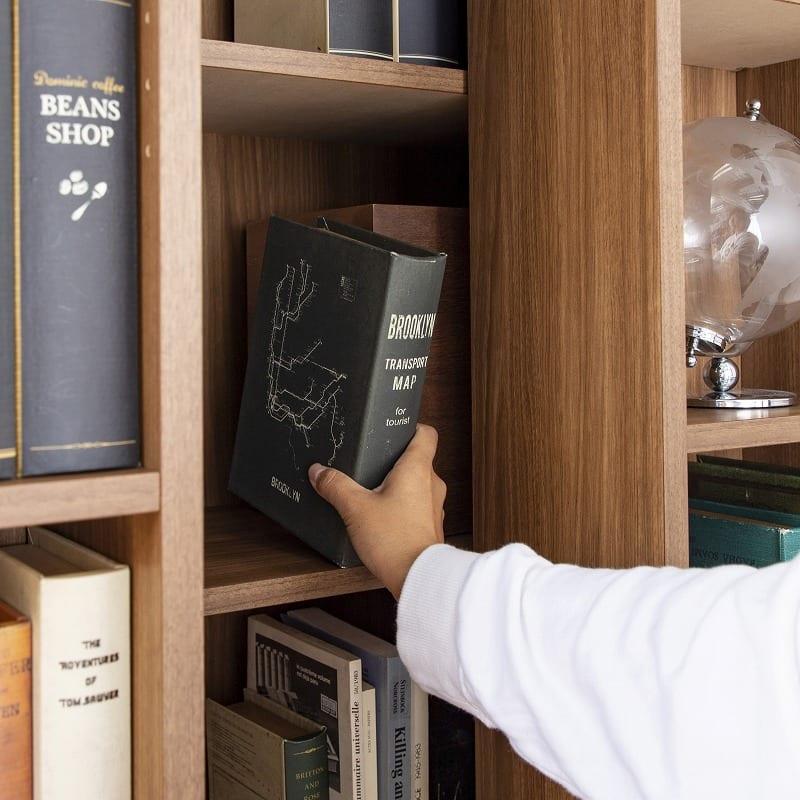 スライド書棚  エース シングルスライド 白木目:魅せたいものは前に、ちょっと隠したいものは後ろに・・