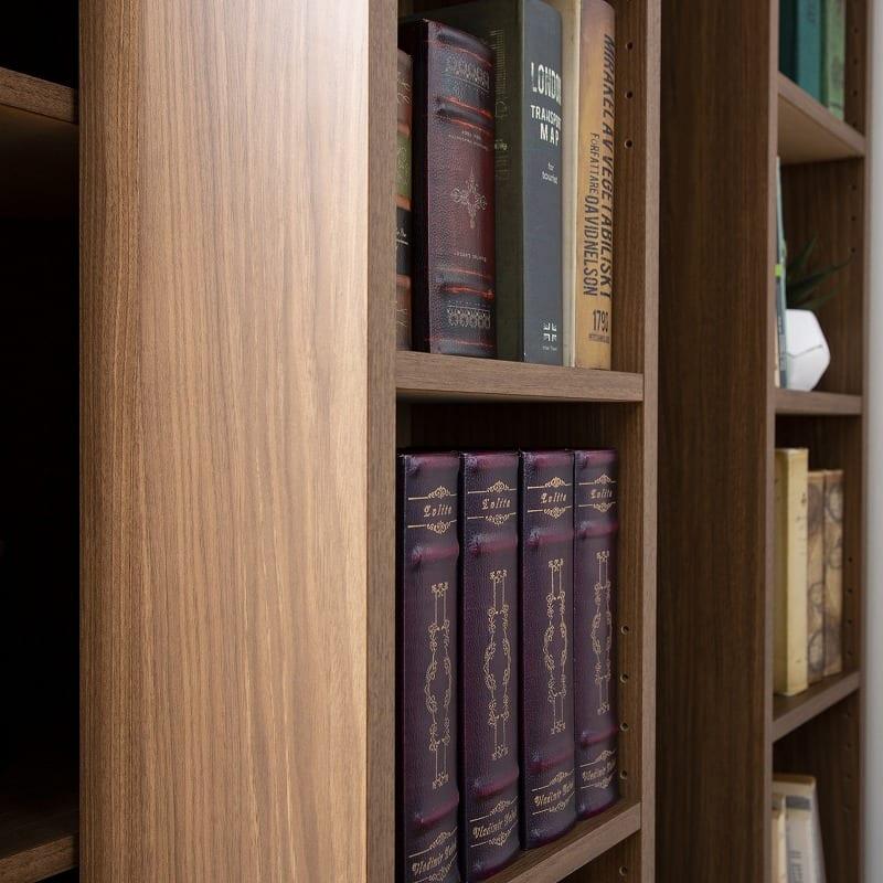 スライド書棚  エース シングルスライド 白木目