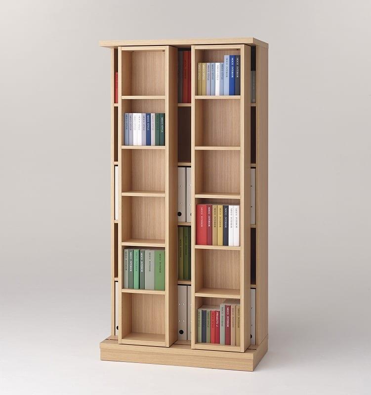 スライド書棚 エース ダブルスライド NA:収納力バツグン!スライド書棚 小物類はイメージです。