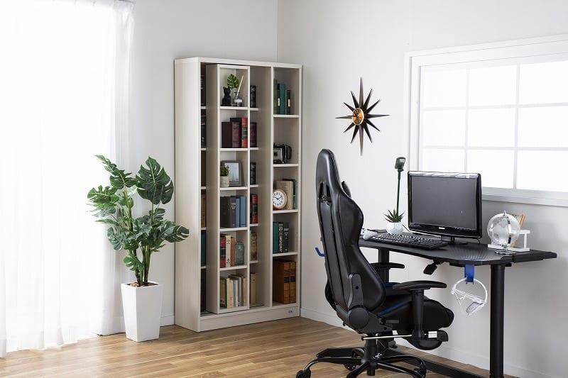 スライド書棚 エース ダブルスライド WN:収納力バツグン!スライド書棚