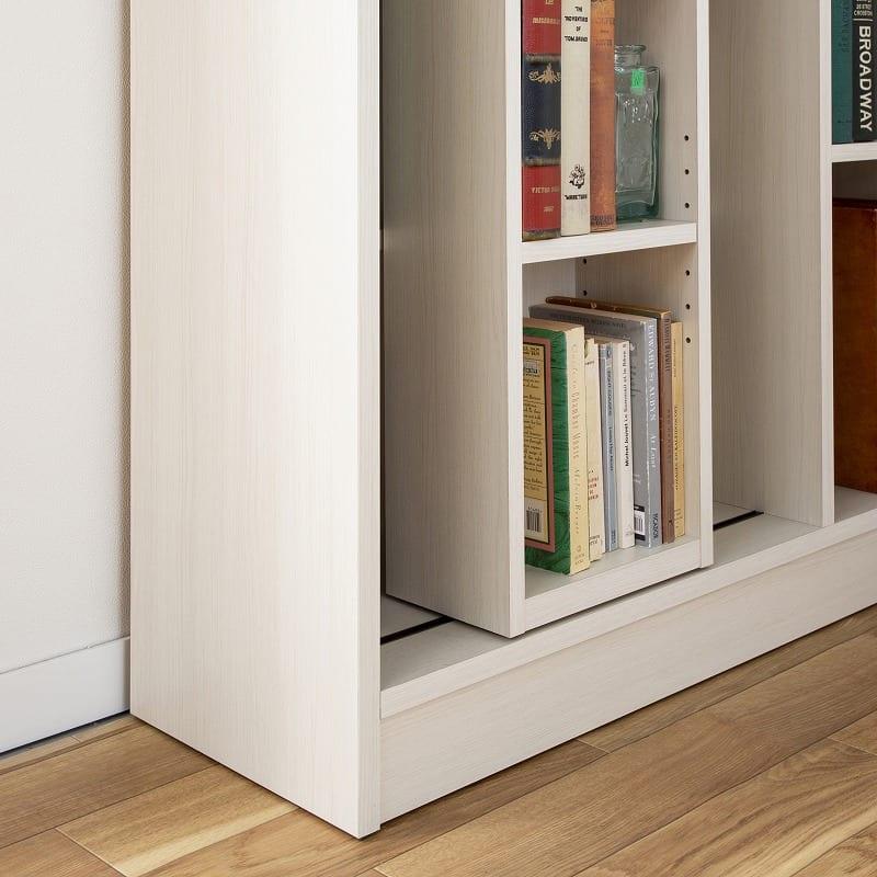 スライド書棚 エース ダブルスライド WH:奥行は使いやすい31cm