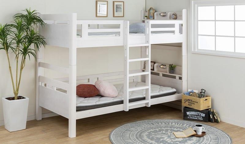 2段ベッド ルピナス WH:お子様のライフスタイルに合わせて2段ベッドも変化します