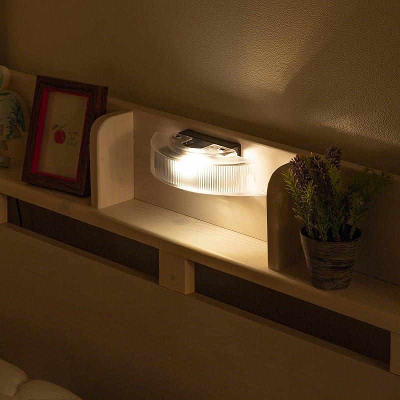 2段ベッド ルピナス WH:便利なライト付き