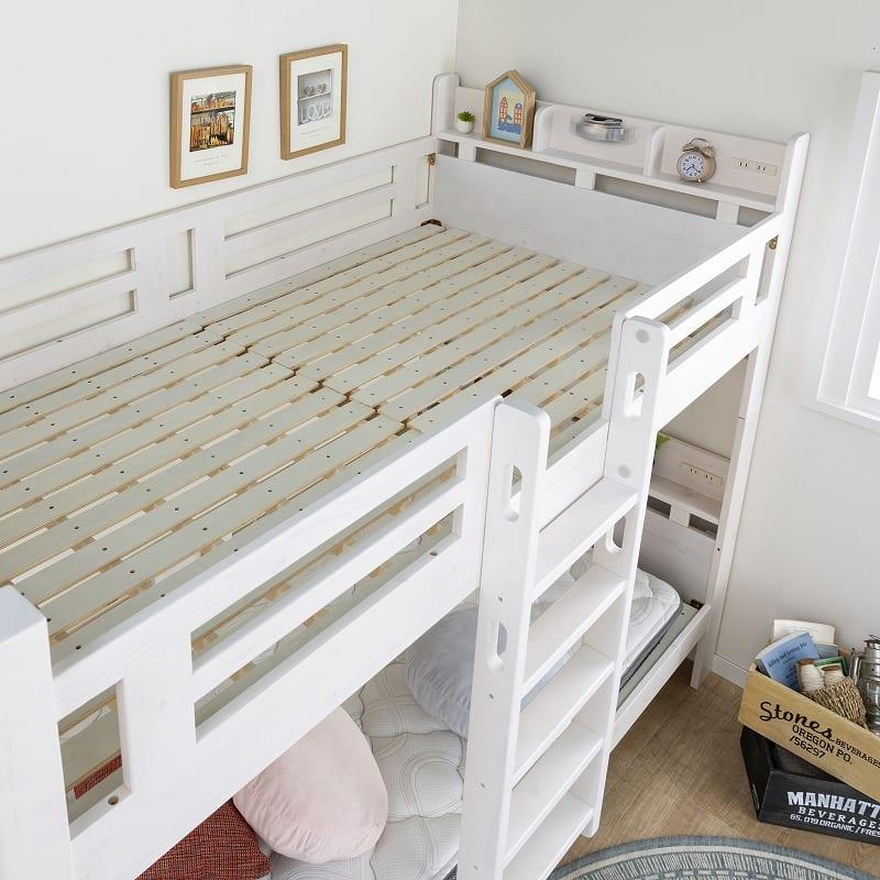 2段ベッド ルピナス WH:通気性もバッチリ