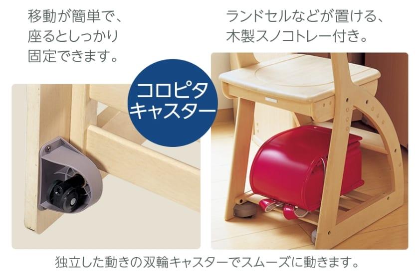 コイズミ 木製チェア 4ステップチェア PVC(FDC-016NSGR)