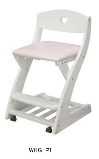 木製チェア WC−16 WHG−PI ホワイト・ピンク