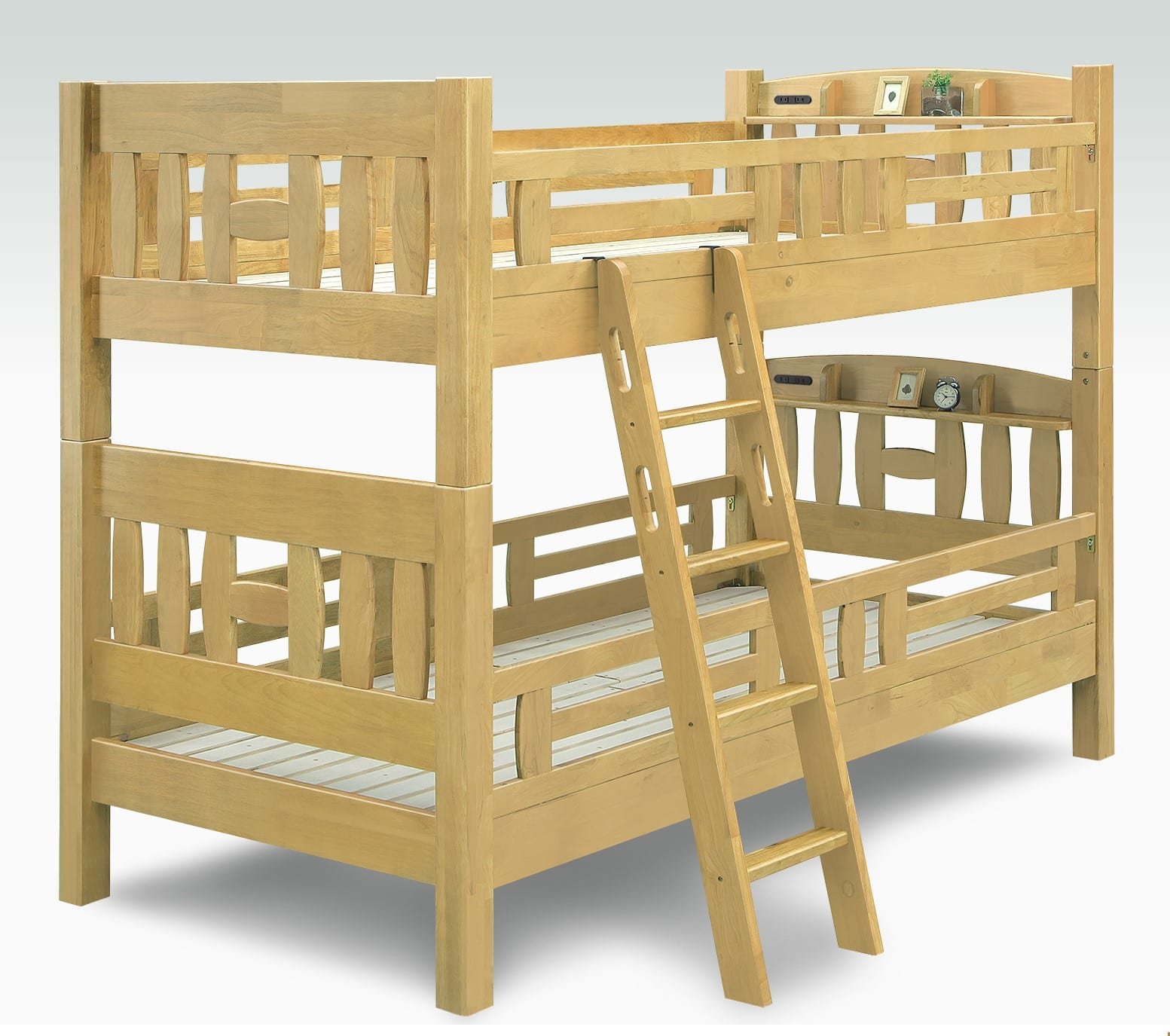 宮付2段ベッド レガーロ�U NA:宮付2段ベット ※小物類はイメージです。
