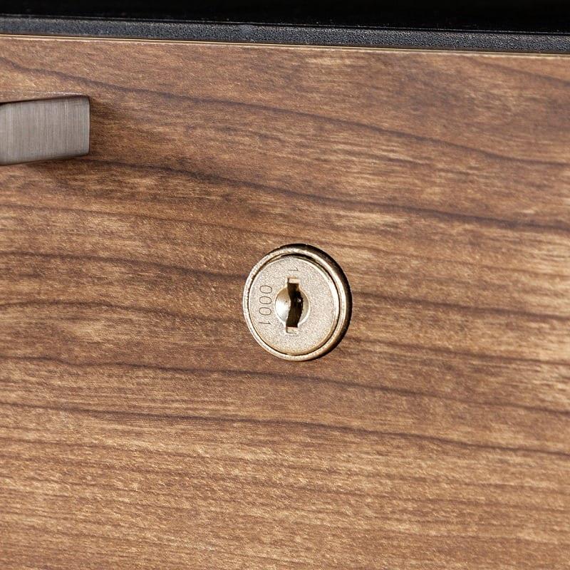 デスクワゴン ホリス DD−HF200−DW:プライバシーを守る鍵付き