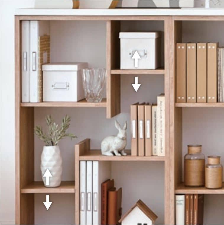:お洒落書棚の収納力