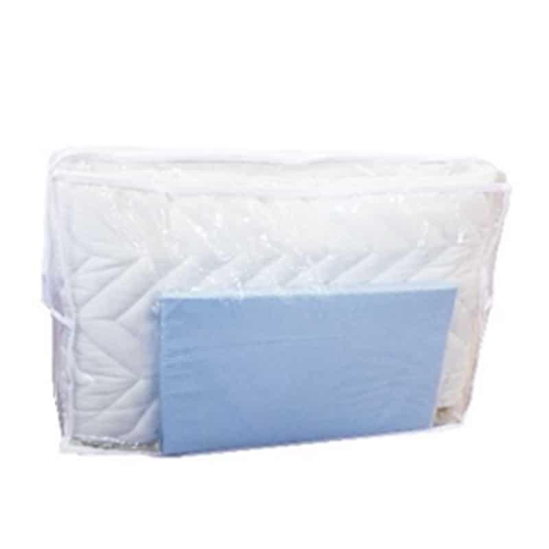 【寝装品2点セット】シングル ベッドパッド/ボックスシーツ BL(ブルー)
