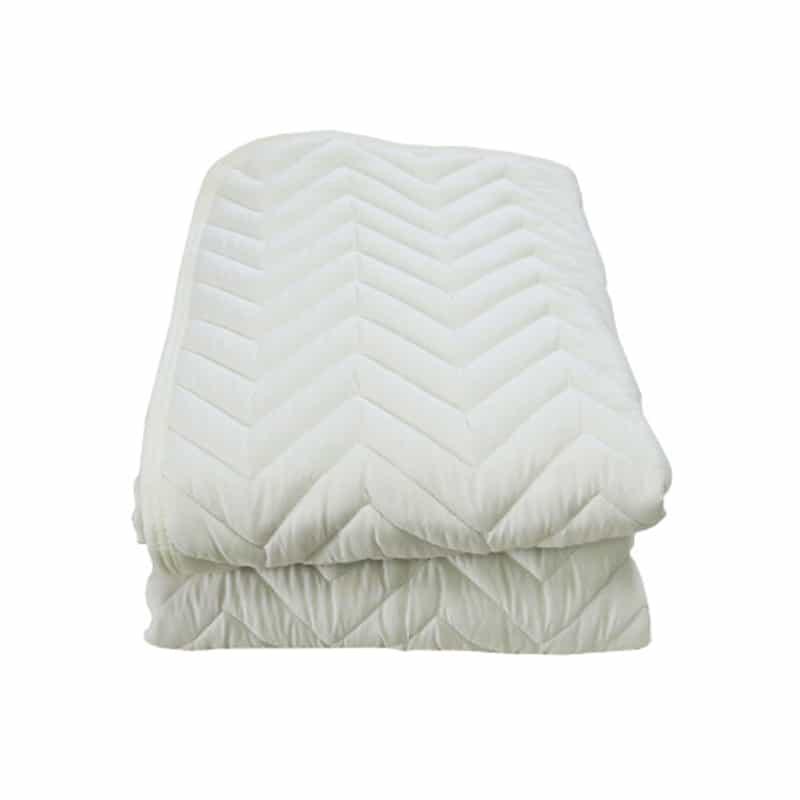 シングルサイズ 寝装品2点パック(ベッドパッド、ボックスシーツ) BL(ブルー)