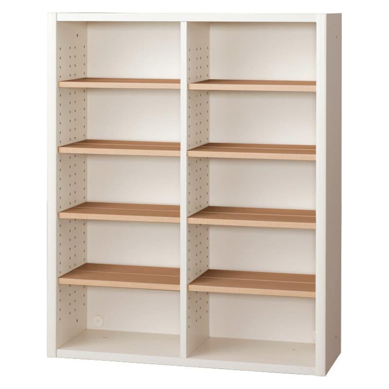 書棚 EP−90オープンAホワイト+チェリー:書棚