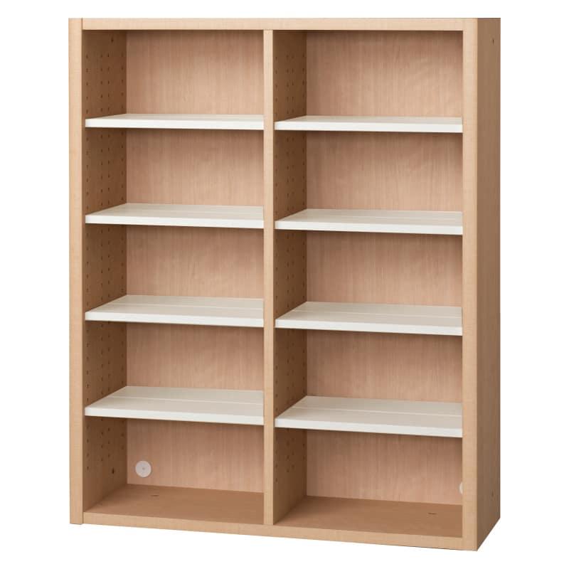 書棚 EP−90オープンAチェリー+ホワイト:書棚